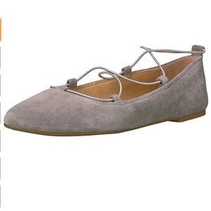 Lucky Brand Shoes - Lucky Grey Suede Pointed Toe Ballet Flats, size 10